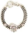 J.O.A. Flower Stone Chain Bracelet