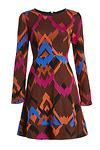 Harlyn Chevron Fit & Flare Dress