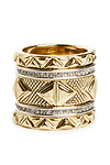 House of Harlow 1960 Mesa Stack Rings Set