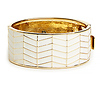 House of Harlow 1960 Enameled River Cuff Bracelet