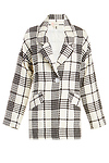 Charlotte Plaid Cocoon Coat
