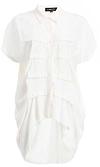 COREY Colbi Pintuck Button Up Shirt