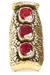 Natalie B 3 Stone Bliss Saddle Ring