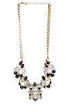 DAILYLOOK Pearl Studded Floral Necklace