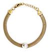 J.O.A. Coiled Crystal Gem Bracelet