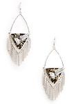 Prudence C Diamond Rhodium Earrings