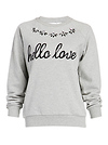 Lovers + Friends Hello Lover Sequin Graphic Pullover