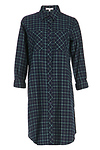 DAILYLOOK Lauren Plaid Cotton Shirt Dress
