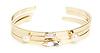 J.O.A Crystal Gem & Pearl Cuff Bracelet