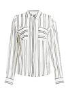 J.O.A Striped Double Front Pocket Shirt