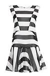 J.O.A Patchwork Striped Dress