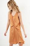 Charmeuse Front Sleeveless Dress