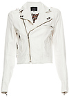 Studded Leatherette Biker Jacket