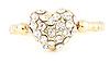 Sparkle Heart Midi Ring
