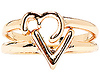 DAILYLOOK Text Heart Rings