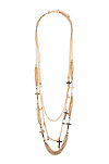 Chains Crossed Necklace