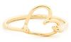 DAILYLOOK Wire Heart Midi Ring