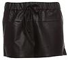 Flared Vegan Leather Shorts