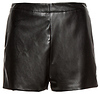 High Waist Leatherette Shorts