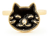 Happy Black Cat Ring