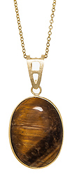 DAILYLOOK Tiger's Eye Pendant Necklace