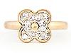 Crystal Flower Midi Ring