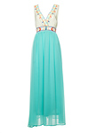 Embroidered Top Maxi Dress