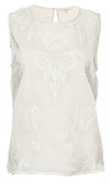 Sleeveless Embroidered Pattern Top