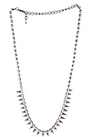 DAILYLOOK Spiked Rhinestone Necklace