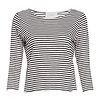 Three Quarter Sleeve Striped Tee