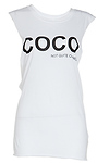 BLQ BASIQ Coco Not Quite Chanel Muscle Tee
