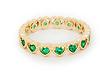 DAILYLOOK Crystal Hearts Midi Ring