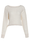 Cropped Front Sweater