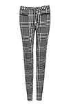 Flocked Houndstooth Pants