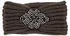 Beaded Flower Knit Headband