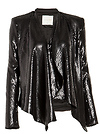 Line & Dot Matte Sequin Draped Jacket