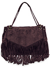 Oversized Leather Fringe Tote