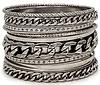 DAILYLOOK Chain Gang Bangle Bracelet Set