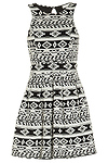 Aztec Knit Fit and Flare Dress