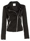 Line & Dot Jacquard Moto Jacket