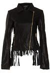 Glamorous Vegan Leather Fringe Jacket