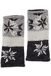 Snowflake Fingerless Wool Gloves