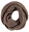 Sparkling Braided Knit Scarf