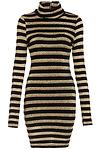 Mesh and Angora Striped Dress