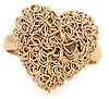 Tangled Wire Heart Ring