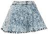 Acid Wash Circle Skirt