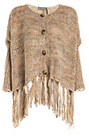 Lucca Couture Oversized Fringed Cardigan