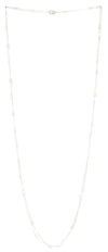 DAILYLOOK Long Crystal Chain Necklace