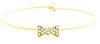 Crystal Bow Wire Bracelet