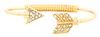 DAILYLOOK Rhinestone Arrow Bracelet